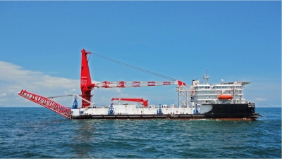 400t Shallow Water Floating Crane & Pipe Layer