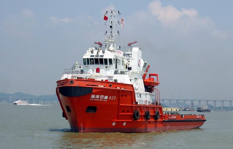 6500HP电推油田守护船
