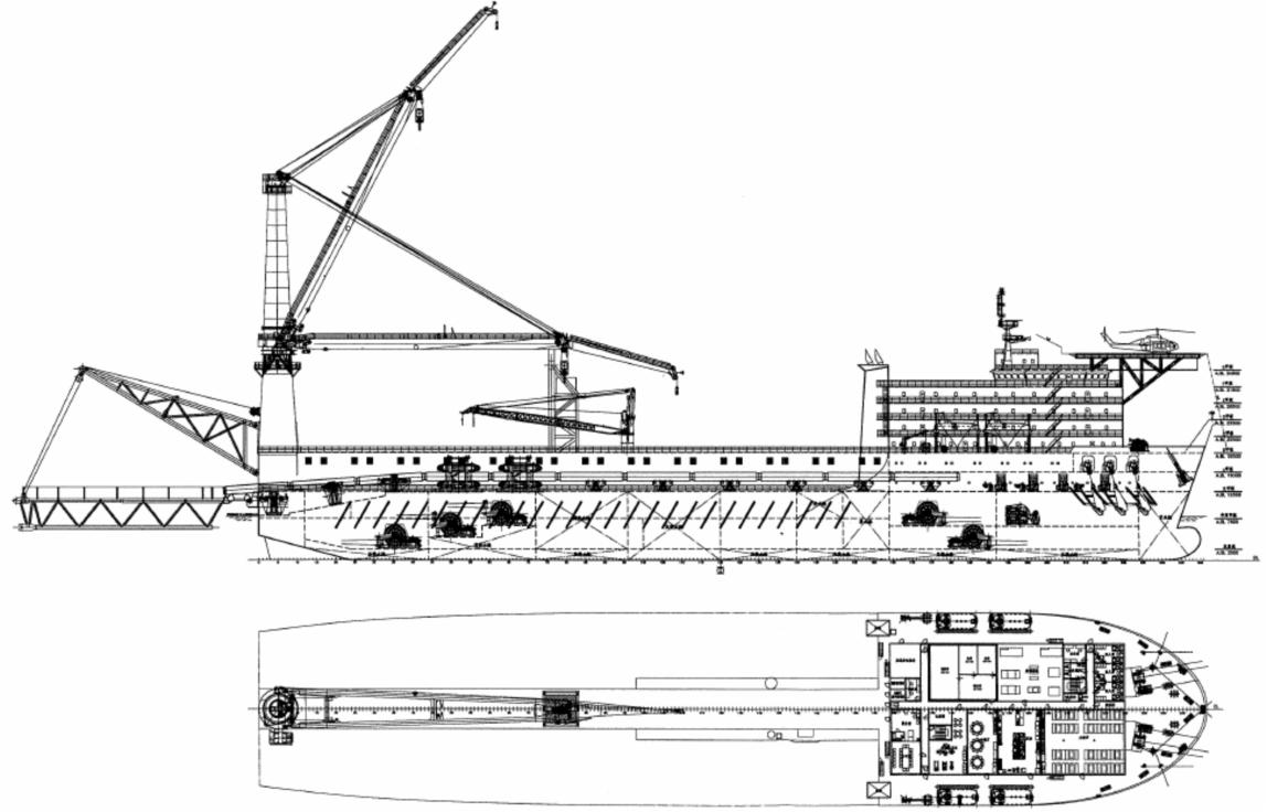 350米作业铺管船